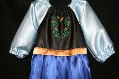 Princess Anna Frozen Disney princess dress..I like the peasant style neckline and sleeves