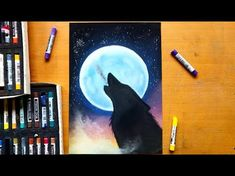 Drawing a howling wolf with soft pastels | Leontine van vliet - YouTube