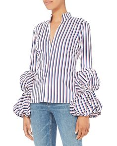 Caroline Constas  Yasmin Striped Blouse