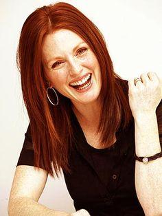 Julianne Moore Laughing