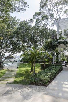 Sticks and Stones Coastal Gardens, White Gardens, Sydney Gardens, Sticks And Stones, Back Gardens, Landscape Design, Lush, Exotic, Tropical