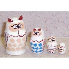owls Russian nesting dolls