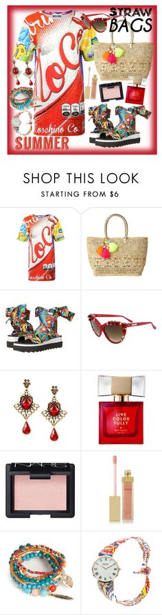 """""""Catching Rays"""" by ziandra ❤ liked on Polyvore featuring Moschino, Lilly Pulitzer, Love Moschino, A-Morir by Kerin Rose, Kate Spade, NARS Cosmetics, AERIN, Red Camel and strawbags"""