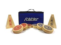 Rollors Wooden Yard Game, Camping Yard Games! The Rollors Wooden Yard Activity Game combines the strategies of horseshoes, bocce ball and bowling. Kids and adults of any skill level can play together. This is a great camping game because it requires very little set up, can be played on almost any surface and comes with a convenient carrying case. It can add hours of fun to your camping activities.