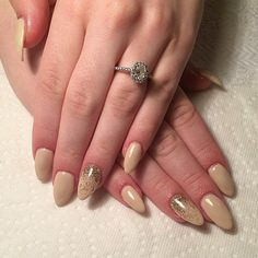 The secret to an enviable engagement ring photo isn't about the background or even the rock itself, at least not entirely: it's about having the perfect polish color or manicure to go with your sparkler, Try this Not Basic Beige