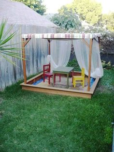 outdoor play area could translate into an outdoor stage, with the fabric.....