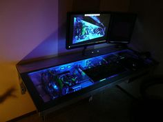 Gaming Computer Desk Nerd Board Pinterest Gaming computer