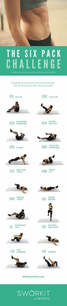 Six Pack Challenge Workout | Posted by: NewHowtoLoseBellyFat.com