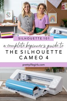 Silhouette 101: A Complete Guide for Beginners - The Pretty Life Girls | We are sharing all things Silhouette 101 and giving you a little intro into the CAMEO 4. From unboxing to cutting, we will help you get started making your own magic! #vinylcrafts #craftcutter #vinylprojects #silhouettemachine #silhouettecameo #silhouettetutorial #cameotutorial Silhouette Cameo Vinyl, Silhouette Cameo Tutorials, Silhouette Machine, Silhouette Projects, Silhouette Design, Silhouette Studio, Silhouette Files, Foam Crafts, Vinyl Crafts