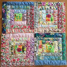 Liberty of London fabric log cabin quilt #esheviakina