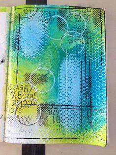 Art journal background in progress - by Dorine Sengers