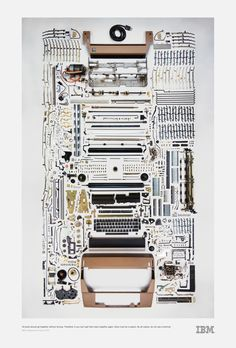 """""""All parts must go together without forcing...by all means, do not use a hammer."""" -IBM maintenance manual 1975 #IBMSelectric #IBMDesign"""