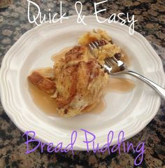 Quick & Easy Bread Pudding Recipe | Mommys Craft Obsession