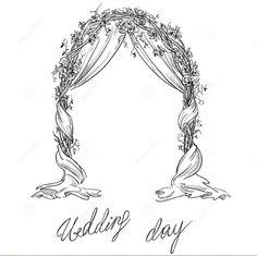 "LINE BOTWIN ""wedding illustrations"" #wedding #bridal #arch #drawing #sketche…"