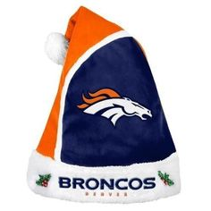 92ccc0e9f94b9 Denver Broncos 2015 NFL Football Team Logo Holiday Plush Basic Santa Hat  Broncos Fans