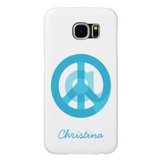 """At Peace Sign"" Samsung Galaxy S6 Personalized Phone Case.  Enter name or delete text. Design symbolizes finding calm in a world of constant internet connectivity. Find peace in the world & within yourself. Be @ peace. Cute gift for someone who likes blogging & posting on social media networks (i.e. twitter, instagram, facebook, pinterest), an internet entrepreneur or blogger doing lots of tagging & gaining followers, digital marketing.  #smm #seo #atpeacesign"