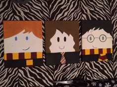 Harry Potter canvas-these are just adorable