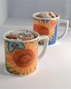 """Mug cake """"Girasole innamorato_ per la  #colazione romantica  www.ancap.it"""