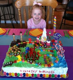 Candy Land Birthday Cake Ok friends..... Can someone help me pull this off?!?!?!