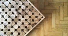 """The beauty of the Sofia coffee table comes from unique signs of cutting """"Teka"""" solid wood."""