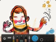 July 2014 - Pencil by Fiftythree has been launched in Germany. Sketches can be easily made with Pencil Paper. (Picture: netzwelt.de)