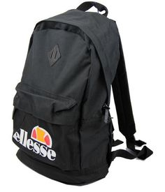 ELLESSE RETRO 70s 80s RUCKSACK BACKPACK BAG BLACK