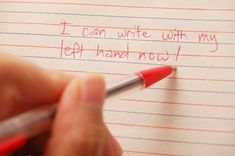 How to Write With Your Opposite Hand -- via wikiHow.com
