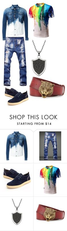 """""""More Blue!"""" by rasmus-herbst on Polyvore featuring Dsquared2, Gucci, men's fashion and menswear"""