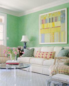 gorgeous green walls