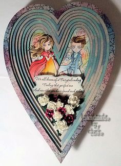 """A new month - a new challenge at Visible Image this time with the theme """"love"""". I have used the new beautiful Heart Frame of Tando Creat. Love Challenge, Heart Frame, My Arts, Challenges, Personalized Items, Creative, Projects, Cards, Frames"""