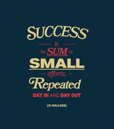 success is the sum of small efforts