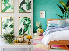 ▷ 1001 + current trends for the 2017 apartment deco Painted Brick Walls, Tropical Interior Design, Interior Design Trends, Apartment Deco, Interior Design Styles, Interior Design Blog, Appartment Decor, Interior Design, Tropical Bedrooms