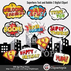 Super Hero Word Bubbles