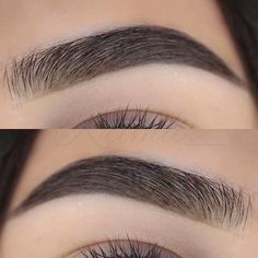 Black bushy brows on trend