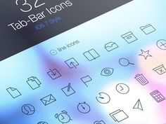 iOS 7 Tab Bar Icons by Pixeden