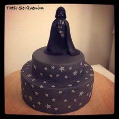 darth vader cake , star wars cake