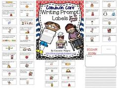 50% off TODAY!  This unit has 60 prompts ( 6 pages of 10 prompts each)  that are perfect for any literacy block model.  You can also use these as an assessment  for Writer's Workshop, centers, or even homework. They are appropriate for grades K-3. Labels are aligned with Common Core.
