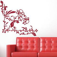 "Style and Apply Beautiful Blossom Wall Decal Size: 24"" H x 23"" W, Color: Royal Blue"