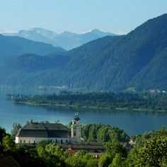 Mondsee, Austria. This is the cathedral where Maria married Captain von Trapp in the movie The Sound of Music.