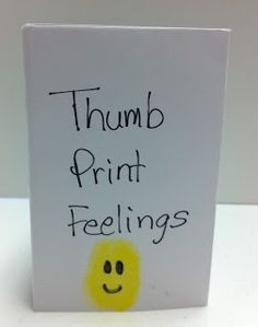 Perfect for Feelings Week! St. Louis Center for Play Therapy Training: Thumbprint Feelings Book