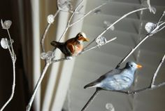 that artist woman: How to make Christmas Bird Ornaments