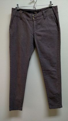 PrAna Ankle Pants Stretch  Women's Size 10 Twill  Brown  #prAna #CasualPants