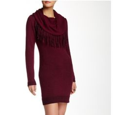 Nwt Romeo and Juliet Couture sweater dress No trades lots of stretch port wine color bust 19 length 36 Romeo & Juliet Couture Dresses