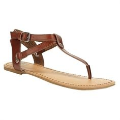 Step Out In Style / BC Footwear Would if I Could Sandal #VonMaur #BCFootwear #Strappy #Brown #Flat ||