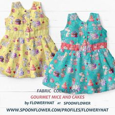 Mice, Spoonflower, Kids Fashion, Collections, Turquoise, Summer Dresses, Yellow, Wallpaper, Children