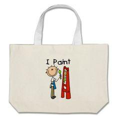 I Paint Canvas Bag