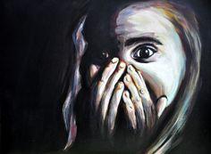 Fear, Acryl painting
