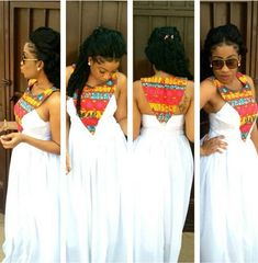 All white with a kick. African inspired