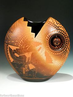 AMAZING PIECE OF NATIVE AMERICAN POTTERY - Amazing piece - beautiful! (but no artist named)