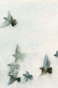 smudge, gradient, group, blues, movement, soft, migrate